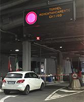 Grosser Sankt Bernhard Tunnel geschlossen für den ganzen Verkehr